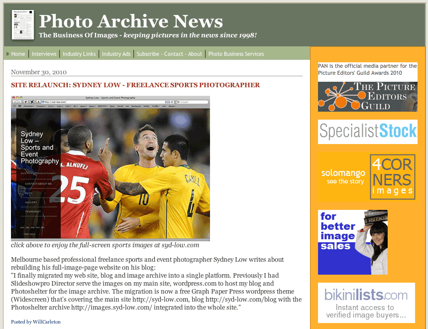 Photo Archive News