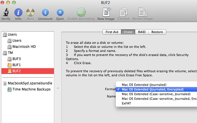 Tech tip: stopping time machine from automatically unlocking encrypted partitions