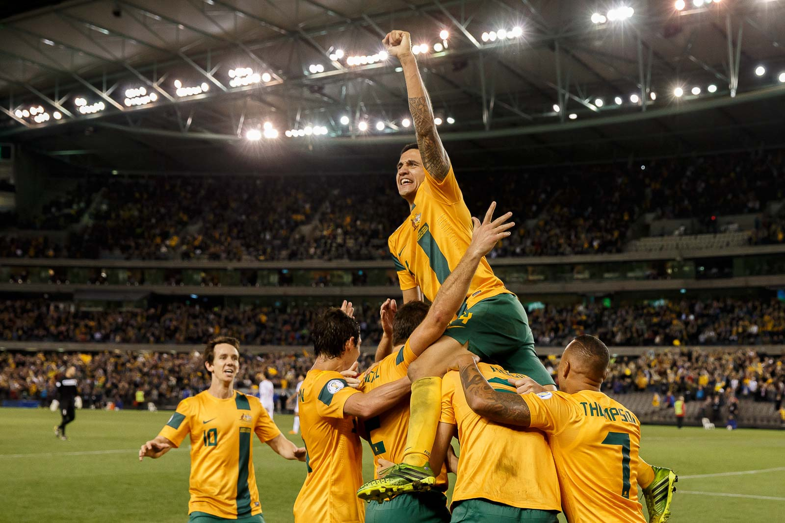 Soccer 2013 - World Cup Qualifier - Australia defeated Jordan 4-0